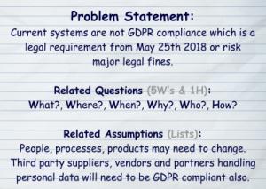 GDPR Problem Statement