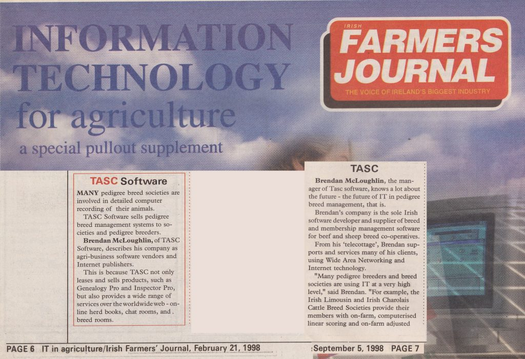 1998 - Information Technology In Agriculture - (The Farmers Journal)