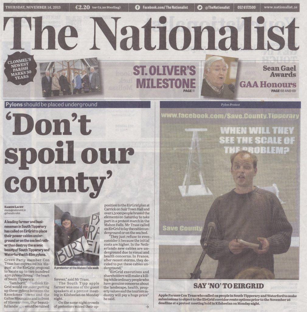 2013 - The 'Save County Tipperary' movement launch - (The Nationalist Newspaper)