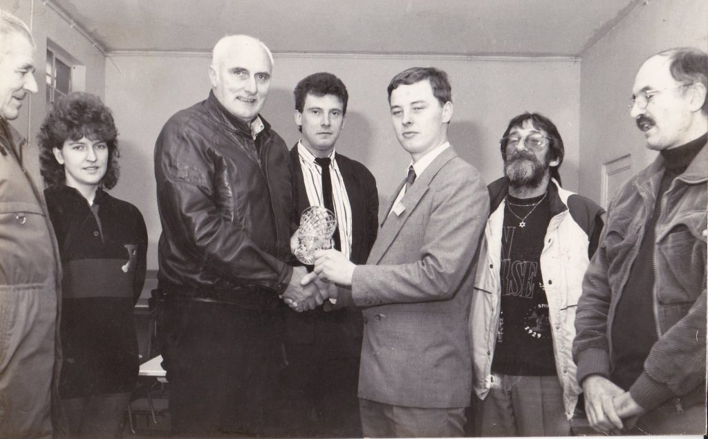 1989 - Presenting Water Crystal On Behalf of COSDA